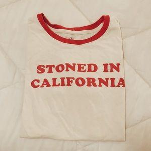 Stoned Volcolm Ringer T-shirt